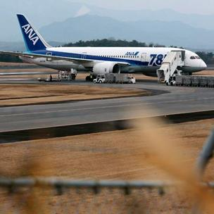 The Boeing 787 Dreamliner in Japan that had a battery incident that led the FAA to temporarily ground the jetliners.