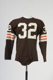A jersey from Jim Brown, the legendary running back with the Cleveland Browns from 1957 to 1965.
