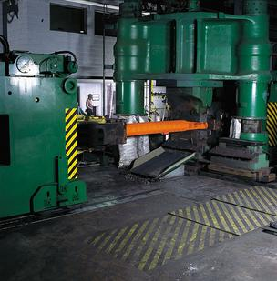 A Carpenter Technologies forging unit in a file photo.