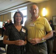 Melissa A. Heike of RJR Safety Inc. in Claysville and Wayne Vanderhoof of RJR Safety Inc. in Claysville.