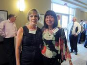 From left: Debbie Moir of Seubert Associates in Pittsburgh, left, and Kathleen H. Bowman of Victory Security in Carnegie.