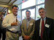 From left: Bernie Kozlowski Jr. of Smart Phone Solution in Saxonburg, Dave McMullen of Franjo Construction Corp. in Homestead and George B. Davis of BB&T Corp. in Pittsburgh.