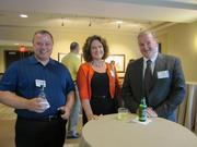 From left: Rich Carver of SystemOne in Pittsburgh, Mary Butterfield of Enscoe Long Insurance Group LLC in Bridgeville and Jack Carroll of Carroll Concepts in Pittsburgh.
