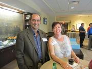 Bill Gearhart of Omni Services Inc. and Beth Bershok of Herbein+Co. Inc. in Pittsburgh.