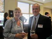 Kathryn A. Jolley of DRS Architects, left, and James Droney of Mount Lebanon Office Equipment Co. Inc.