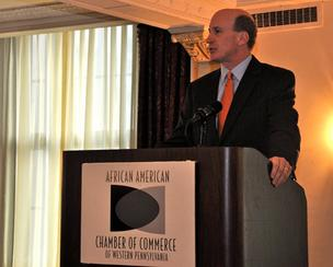 Dennis Yablonsky, CEO of the Allegheny County Conference on Community Development, provided the keynote speech at the African American Chamber of Commerce of Western Pennsylvania's annual business luncheon.