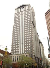 EQT Plaza, once called Dominion Tower, in downtown Pittsburgh. The property was acquired by Highwoods Properties (NYSE: HIW) for $91.2 million.