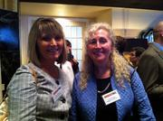 From left: Hope Vaccaro of PNC Bank and Colleen Higgins of Higgins & Associates attended a special luncheon  Wednesday at the Omni William Penn to honor the 13 winners of the 2011 HR Leadership Awards.