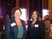 Eileen Wickett, left, and Lisa Wennersten of Five Star Development at a special luncheon held Wednesday at the Omni William Penn to honor the 13 winners of the 2011 HR Leadership Awards, given out by the Pittsburgh Business Times.