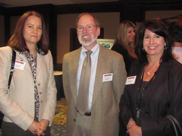From left: Lynn Violi of Highmark, Geoff Coleman of MED3000 and Margie Conley of MED3000 at the Healthiest Employer awards ceremony Thursday at the Sheraton Station Square. The awards were hosted by the Pittsburgh Business Times, and this week's issue has a special section on the winners.