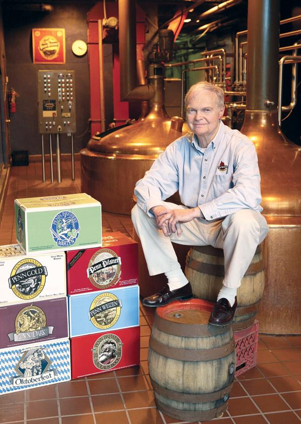 Tom Pastorius, the president and CEO of Pennsylvania Brewing Company, located in the North Side neighborhood of Deutschtown, photographed April 27, 2006. Pastorius died last week at age 67.