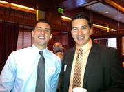 Justin Gasbarre of Medix Staffing Solutions, left, and James W. Finlay of Waddell & Reed, during Wednesday's Business for Breakfast event at McCormick & Schmick's Seafood Restaurant.