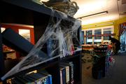The M*Modal offices decorated for Friday's Halloween party.