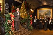 Pittsburgh Mayor Luke Ravenstahl speaks in the Grand Hall for the Mansions on Fifth ceremony.