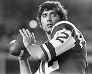An artifact from the career of legendary New York Jets quarterback and western Pennsylvania native Joe Namath is included in the exhibit.