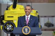 President Obama speaks at the National Robotics Engineering Center in Pittsburgh on Friday, June 24.