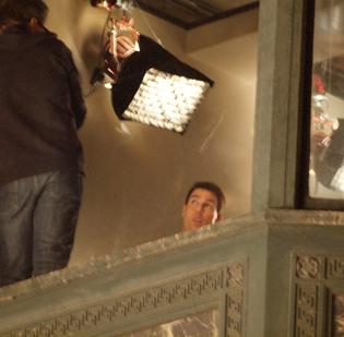 """Tom Cruise shoots the movie """"Jack Reacher"""" in downtown Pittsburgh in mid-November 2011. Cruise will be back in Pittsburgh next month for the premiere of the film."""