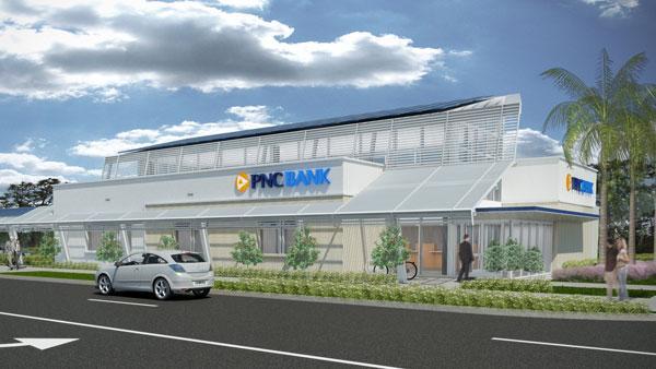PNC is creating a net-zero energy bank branch is Fort Lauderdale, Fla.