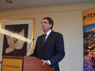 David J. Malone, chairman of the Pittsburgh Regional Alliance and president/CEO of Gateway Financial,