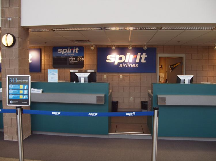 Spirit Airlines operations at Arnold Palmer Regional Airport in Latrobe.