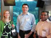 From left: Nancy J. Kenney of Eckert Seamans, Dean Logan of comScore and Arun J. Thomas of Eckert Seamans at the BizMix hosted Wednesday, June 22, by the Pittsburgh Business Times at the Pittsburgh Zoo & PPG Aquarium.
