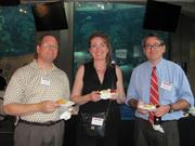 From left: Michael Moyta of Design 3 Architecture in Monroeville, Dorothy Moyta of Planet Aid and Chip Desmone of Desmone & Associates Architects at the BizMix hosted Wednesday, June 22, by the Pittsburgh Business Times at the Pittsburgh Zoo & PPG Aquarium.