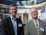 Mark Rust of Montgomery & Rust and Tripp Clarke of 321 Blink in Aspinwall at the BizMix hosted Wednesday, June 22, by the Pittsburgh Business Times at the Pittsburgh Zoo & PPG Aquarium.