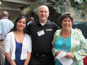 From left: Geetika Tandon of Minuteman Press in Plum Borough, Brian Schill of Wings Over Pittsburgh, and Carol B. Manson of Innova Benefit Services LLC in Pittsburgh at the BizMix hosted Wednesday, June 22, by the Pittsburgh Business Times at the Pittsburgh Zoo & PPG Aquarium.