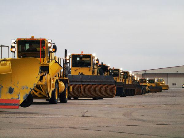 A 2012 file photo of the snowplows at Pittsburgh International Airport.