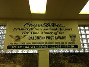 How proficient are the snow-removal crew of the Allegheny County Airport Authority? They've won the Balchen/Post Award in snow removal five times, most recently 2009-10, and been runner up several more times.