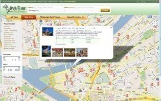 A screenshot of a RentJungle.com rental search.