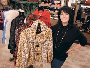 Roberta Weissburg of Roberta Weissburg Leathers was one of the businesses that participated in Small Business Saturday.