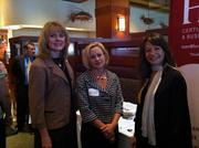 From left: Monica L. Robinson of First National Bank, Rebecca L. MacBlane of Regional Development Funding Corp., and Alice Sande Spataro of Horovitz Rudoy & Roteman during Wednesday's Business for Breakfast event at McCormick & Schmick's Seafood Restaurant.