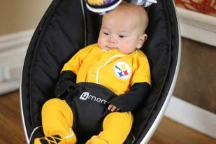 Pittsburgh-based manufacturer Thorley Industries has offered its MamaRoo infant seat as part of a Super Bowl wager between the Greater Pittsburgh Area Chamber of Commerce and the Green Bay Area Chamber of Commerce.
