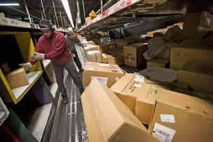 A United Parcel Service sorting facility in San Francisco, Calif., on Thursday.