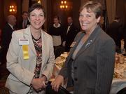 From left: Cheryl Talerico of Sisterson & Co. LLP and Beth Pearson of Tucker Arensberg during the Pittsburgh Business Times' Vision Pittsburgh event Wednesday, March 7, 2012, at the Duquesne Club in Downtown Pittsburgh.