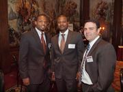 From left: Tony Thompson of Meyer, Unkovic & Scott LLC, Jacques Moye of McGuire Woods and Joseph Fink during the Pittsburgh Business Times' Vision Pittsburgh event Wednesday, March 7, 2012, at the Duquesne Club in Downtown Pittsburgh.