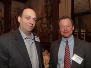 Rob Struble of PPG Industries Inc., left, and John Millea of Yearick-Millea during the Pittsburgh Business Times' VisionPittsburgh event Wednesday, March 7, 2012, at the Duquesne Club in Downtown Pittsburgh.