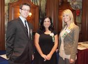 From left: Brandon Rothey of Meyer, Unkovic & Scott LLC, Kristen Puccetti of Consolidated Communications and Alyssa Calvin of Consolidated Communications during the Pittsburgh Business Times' Vision Pittsburgh event Wednesday, March 7, 2012, at the Duquesne Club in Downtown Pittsburgh.