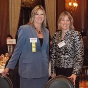 From left: Dee Palaschak of Sisterson & Co. LLP and Jane Dixon of Mount West Investments during the Pittsburgh Business Times' VisionPittsburgh event Wednesday, March 7, 2012, at the Duquesne Club in Downtown Pittsburgh.