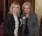 Carrie Salak of Sisterson & Co., left, and Sandy Svoboda of Meyer, Unkovic & Scott during the Pittsburgh Business Times' VisionPittsburgh event Wednesday, March 7, 2012, at the Duquesne Club in Downtown Pittsburgh.