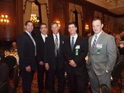 From left: John Taggart, James Masterson, Bob Ochs, Jeremy Pott and Jason Hanlon, all of Consolidated Communications during the Pittsburgh Business Times' VisionPittsburgh event Wednesday, March 7, 2012, at the Duquesne Club in Downtown Pittsburgh.