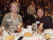 From left: Evelyn Miller of United Surgical Partners International and Cathy Beatty of Gamma Surgery Center during the Pittsburgh Business Times' Vision Pittsburgh event Wednesday, March 7, 2012, at the Duquesne Club in Downtown Pittsburgh.