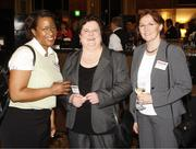 From left: Yolanda Frank of Optimal IQ Solutions, Valerie Haus and Mary Bhaskar of Reckitt Benckiser.