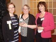 From left: Award winner Olga Lagunova of CA Technologies, Sherran Pool of CA Technologies, and Karen Joseph of CA Technologies.