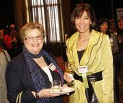 From left: Judy Bannon of Cribs for Kids and award winner Dorothy Andreas of The Sewickley Spa.