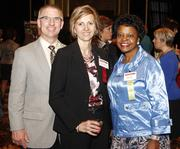 From left: Don Mitchell, Petra Mitchell of Catalyst Connection and Jackie Dixon of Giant Eagle.