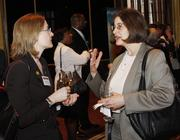 From left: Kate Freed of Chatham University and Patricia DeMarco of Rachel Carson Institute at Chatham University.