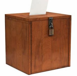 Paper ballot and ballot box