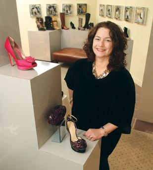 Jill Rubinstein, owner of Footloose Shadyside, has seen store traffic increase since implementing a social media push.